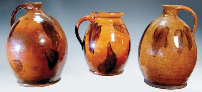Lot 29: Three Redware Pieces