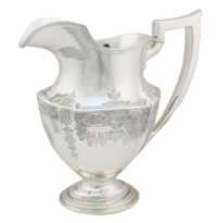 Lot 44: Gorham Sterling Silver Pitcher and Ladle