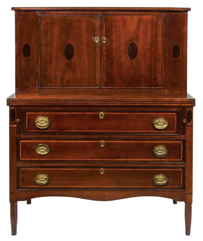 Lot 45: Sheraton Two-Part Secretary