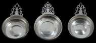 Lot 46: Three 20th c. Sterling Silver Porringers