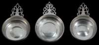Lot 46: Three 20th c. Sterling Silver Porringers