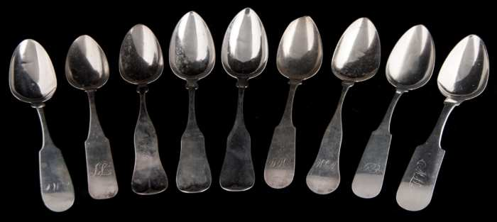 Lot 47: Coin Silver Serving Spoons