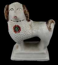 Lot 53: Chalkware Dog