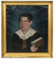 Lot 61: New England Folk Art Portrait