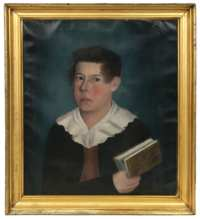 Lot 61: New England Folk Art Portrait