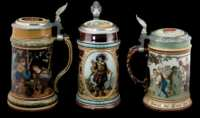 Lot 71: Mettlach Steins