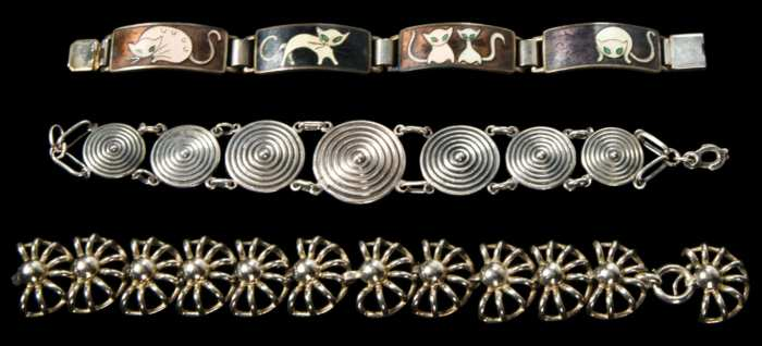 Lot 77C: Three Sterling Silver Bracelets