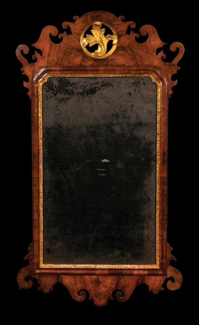 Lot 80: 18th c. English Chippendale Looking Glass
