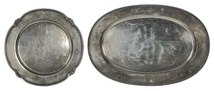 Lot 89: Two Sterling Silver Trays