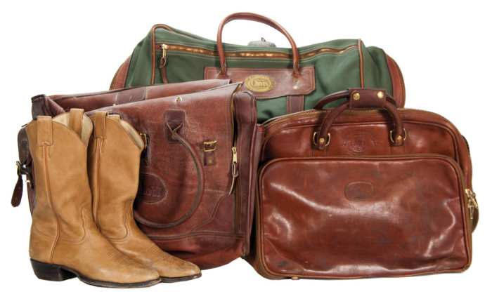 Lot 94B: Cowboy Boots, Leather Bags and Chaps