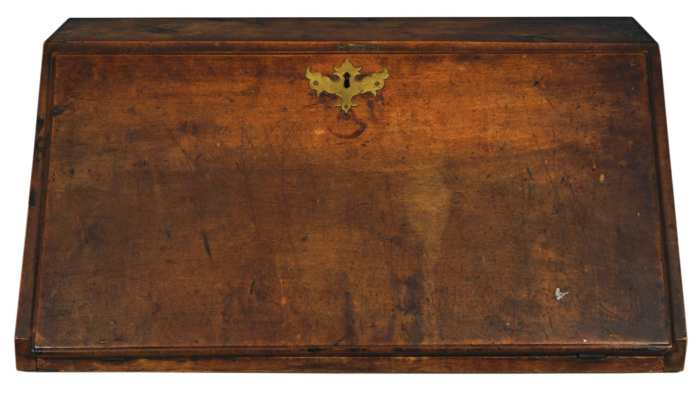 Lot 95: 18th c. Slant Lid Table-Top Desk