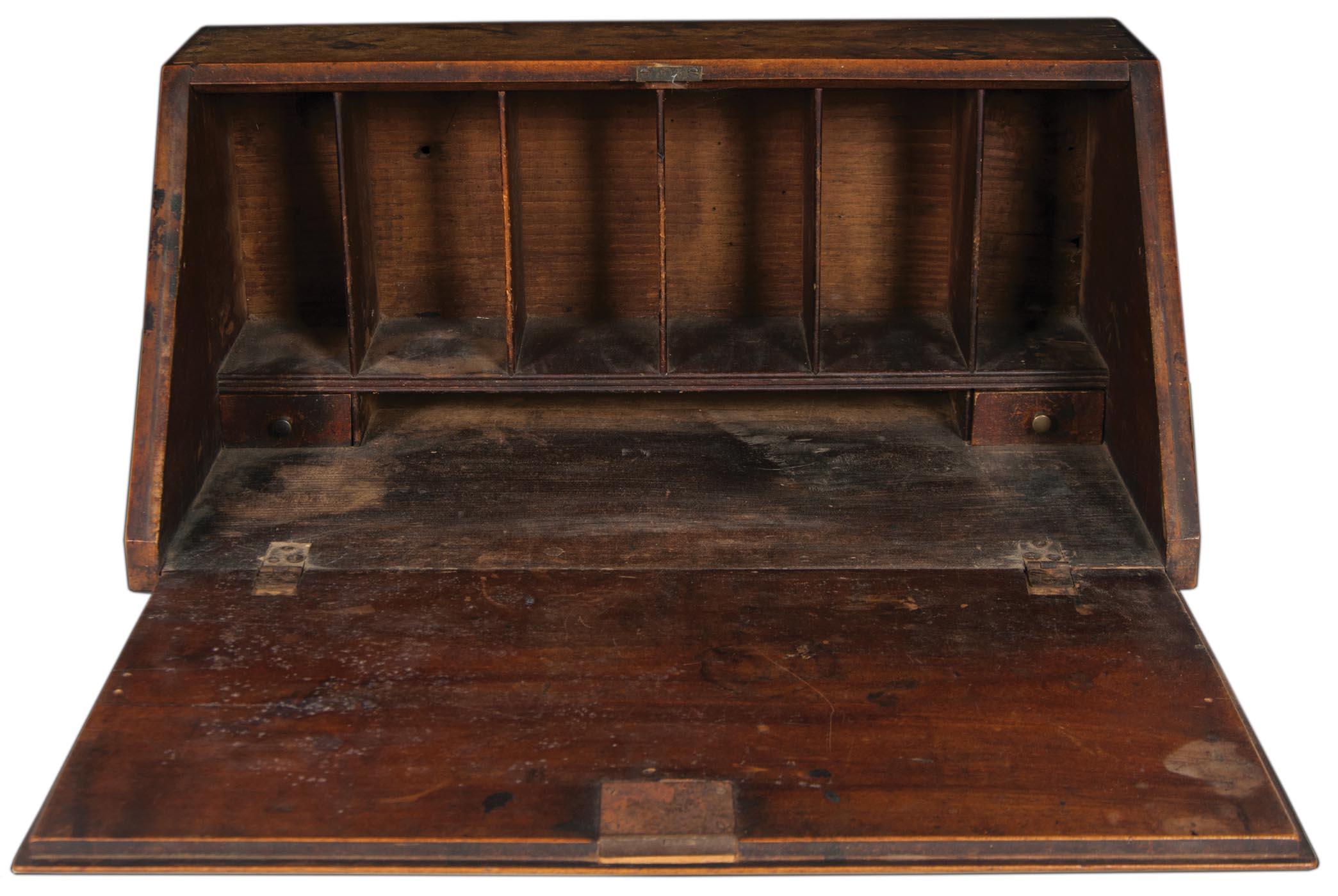 Captivating Slant Lid Table Top Desk | Willis Henry Auctions, Inc.