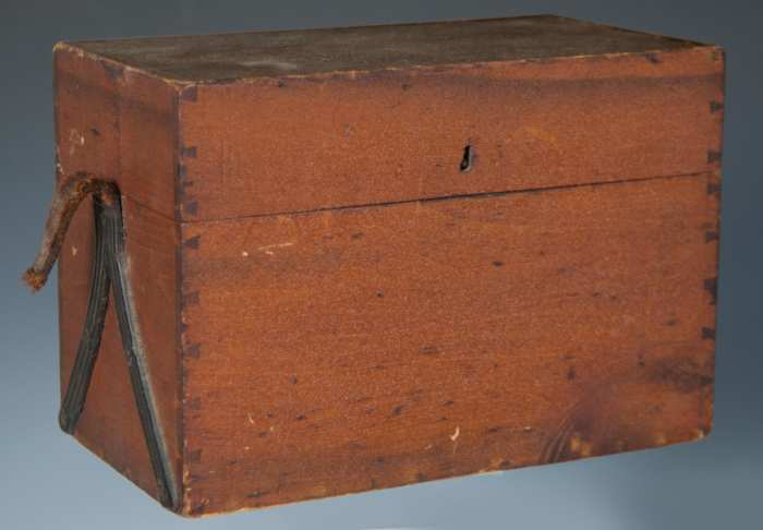 Lot 96: 19th c. Lift Lid Bottle Box