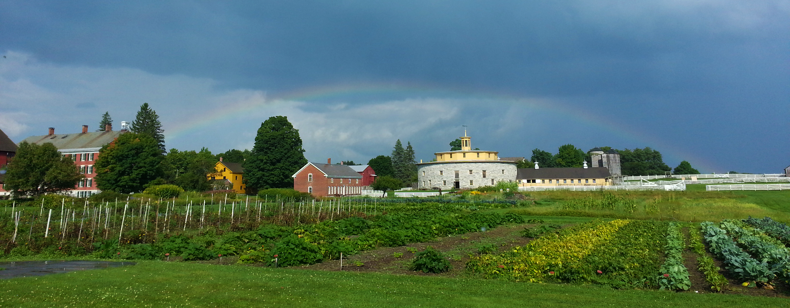 Rainbow Over Round Barn