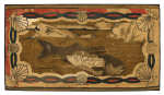 Lot 33: 19th C. Nautical Hooked Rug