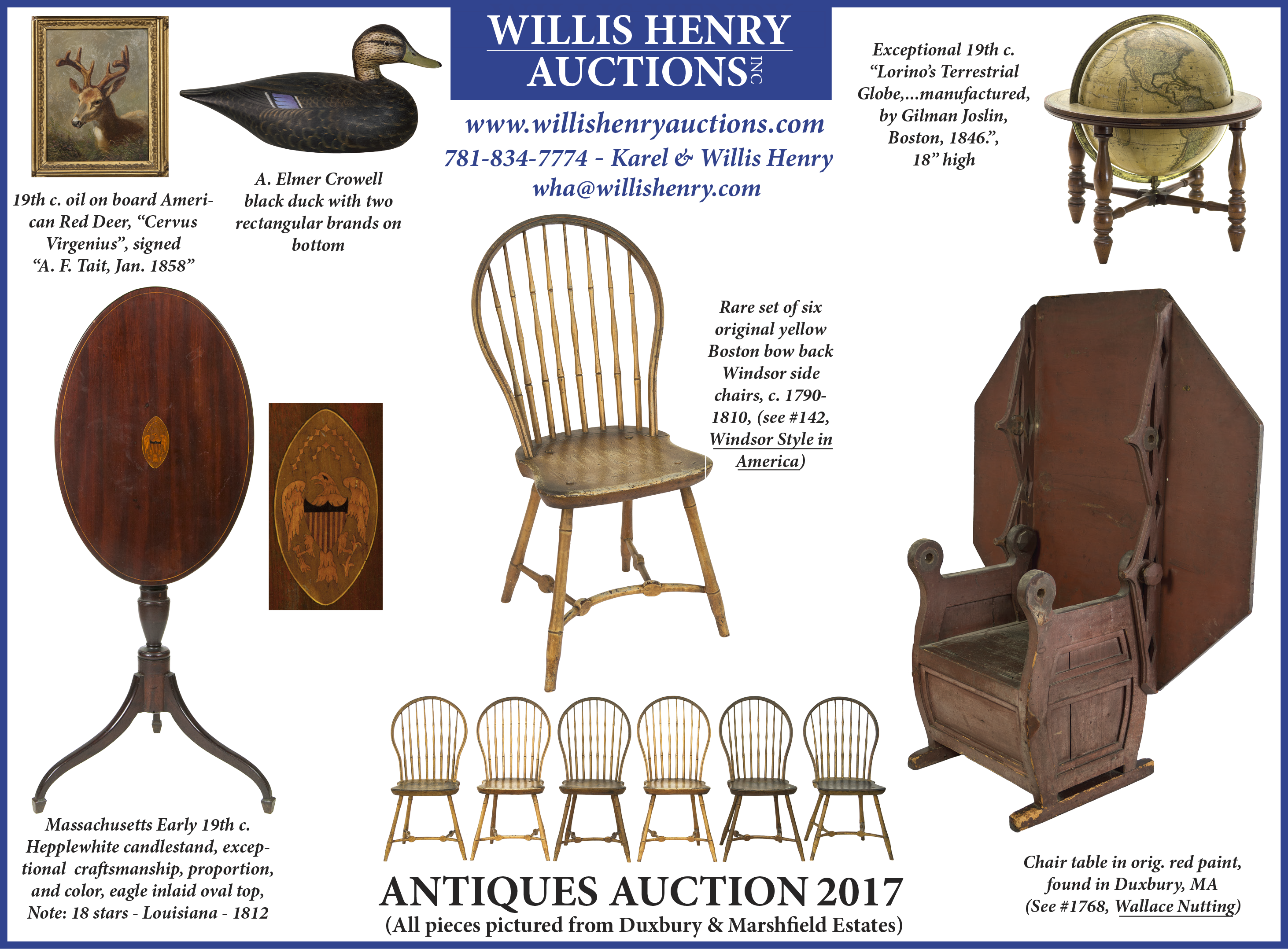 antiques auction – march 19, 2017 | willis henry auctions, inc.