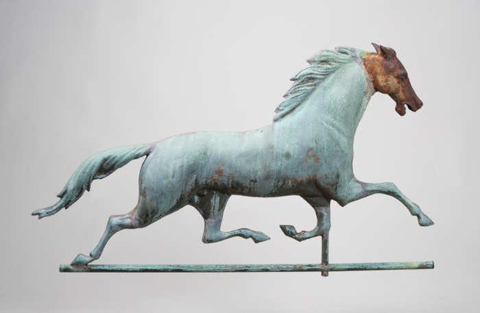 folk, art, weathervane, horse