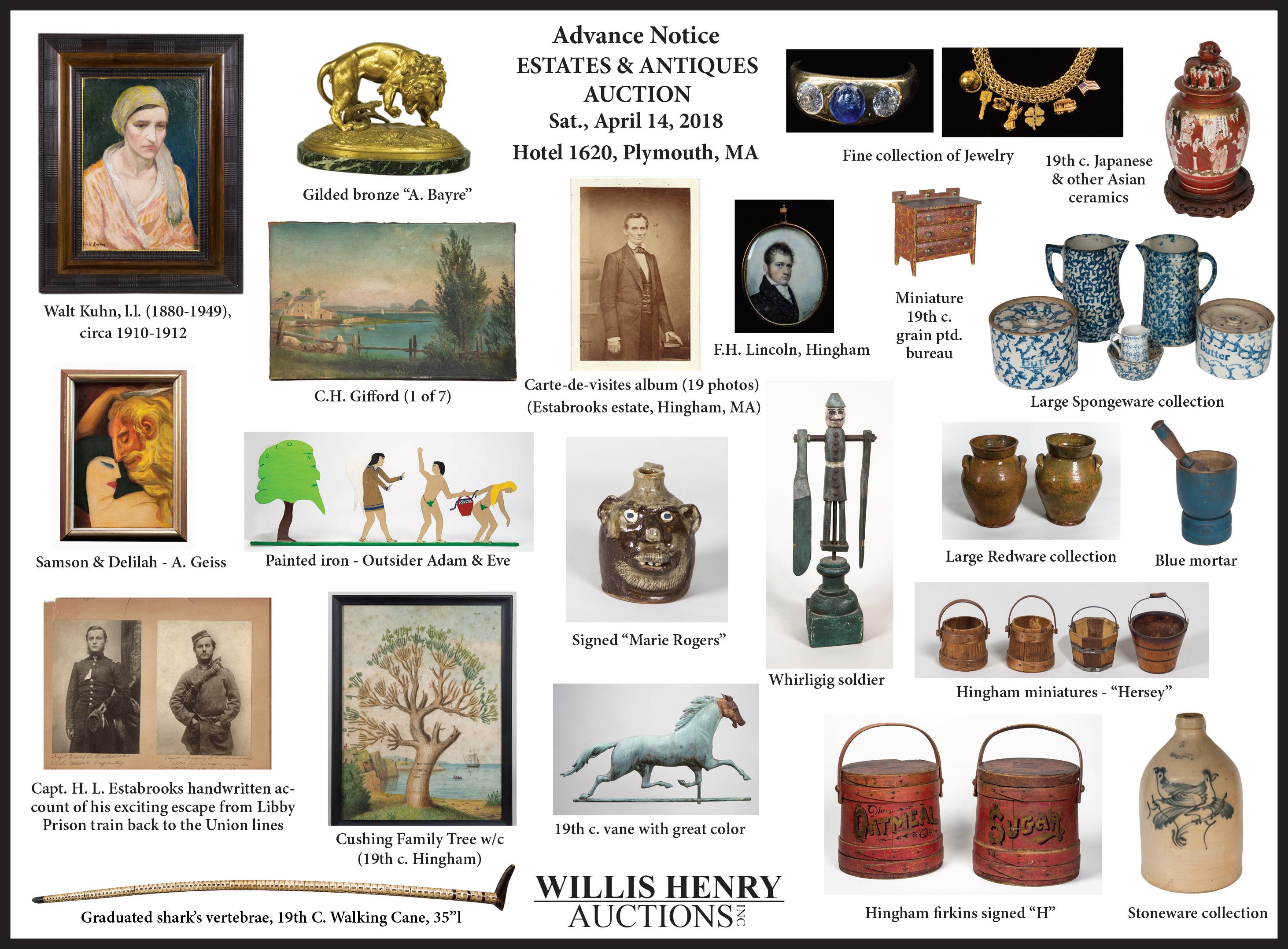 estates, antiques, auction, ad