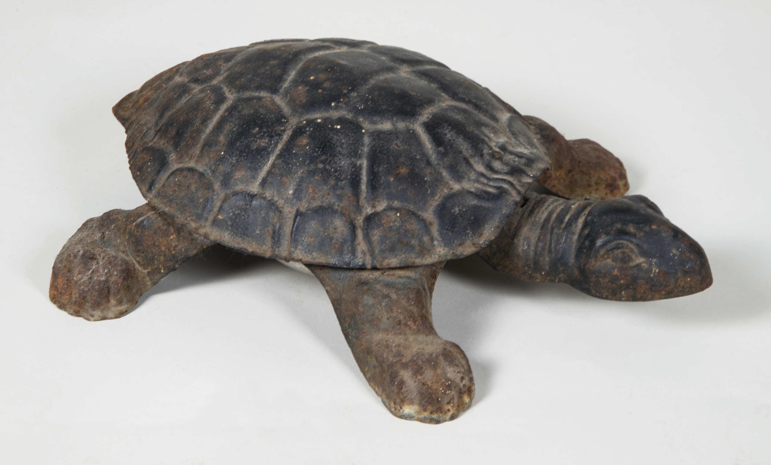 turtle, spittoon, cast, metal