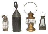 tin, brass, lanterns
