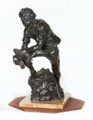bronze, statue, marble, pioneer, salews