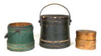 pails, oval, boxes, hingham, pine