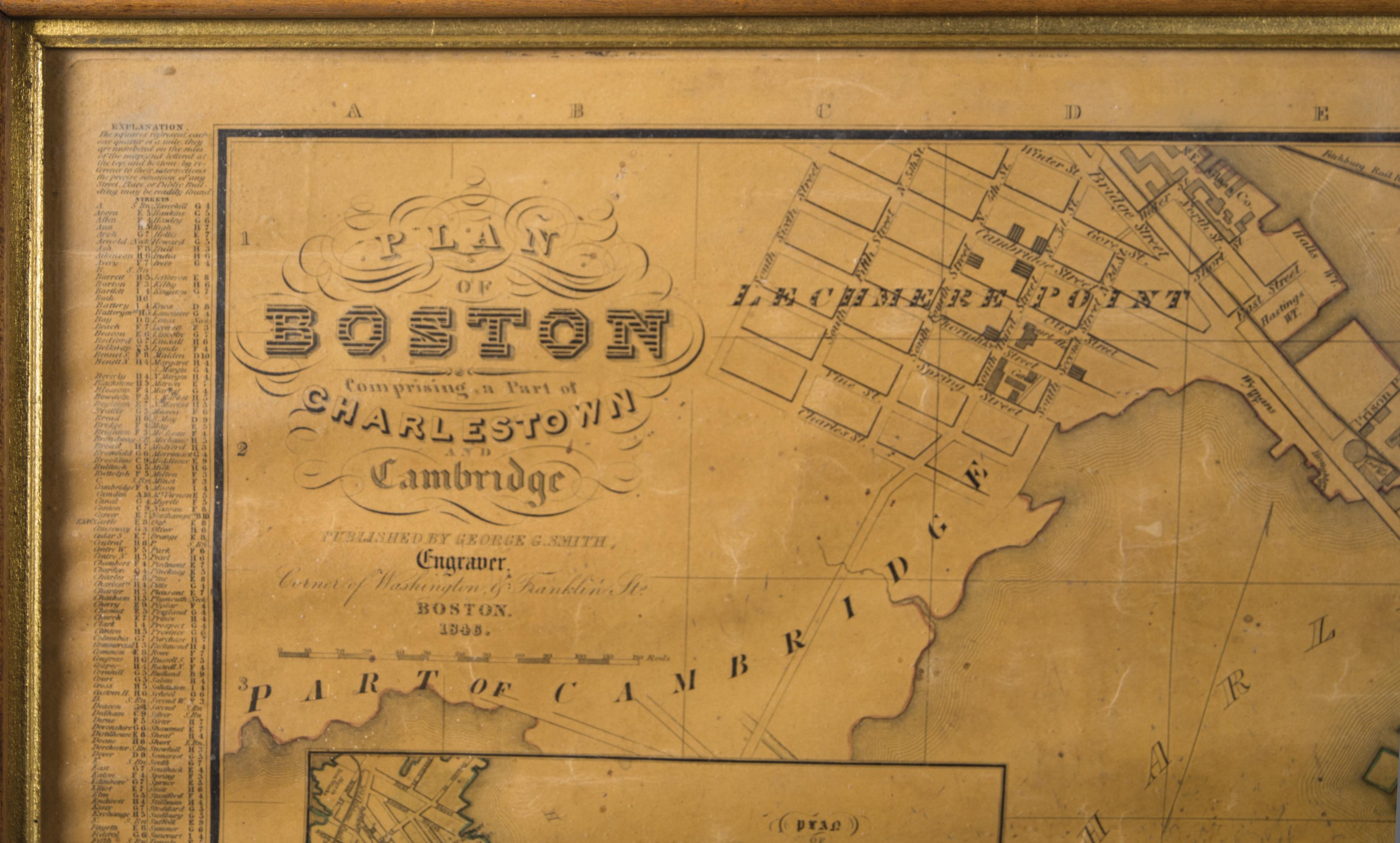 plan, boston, map, 1846