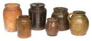 redware, pots
