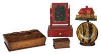 tiger, maple, knife box, pine, mirror