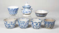 spongeware, cups, bowls