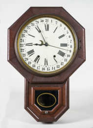 calendar, clock, oak