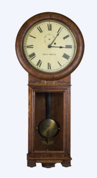 regulator, clock, oak