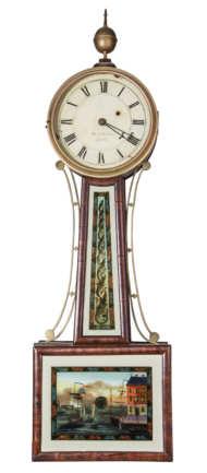 banjo, wall, clock