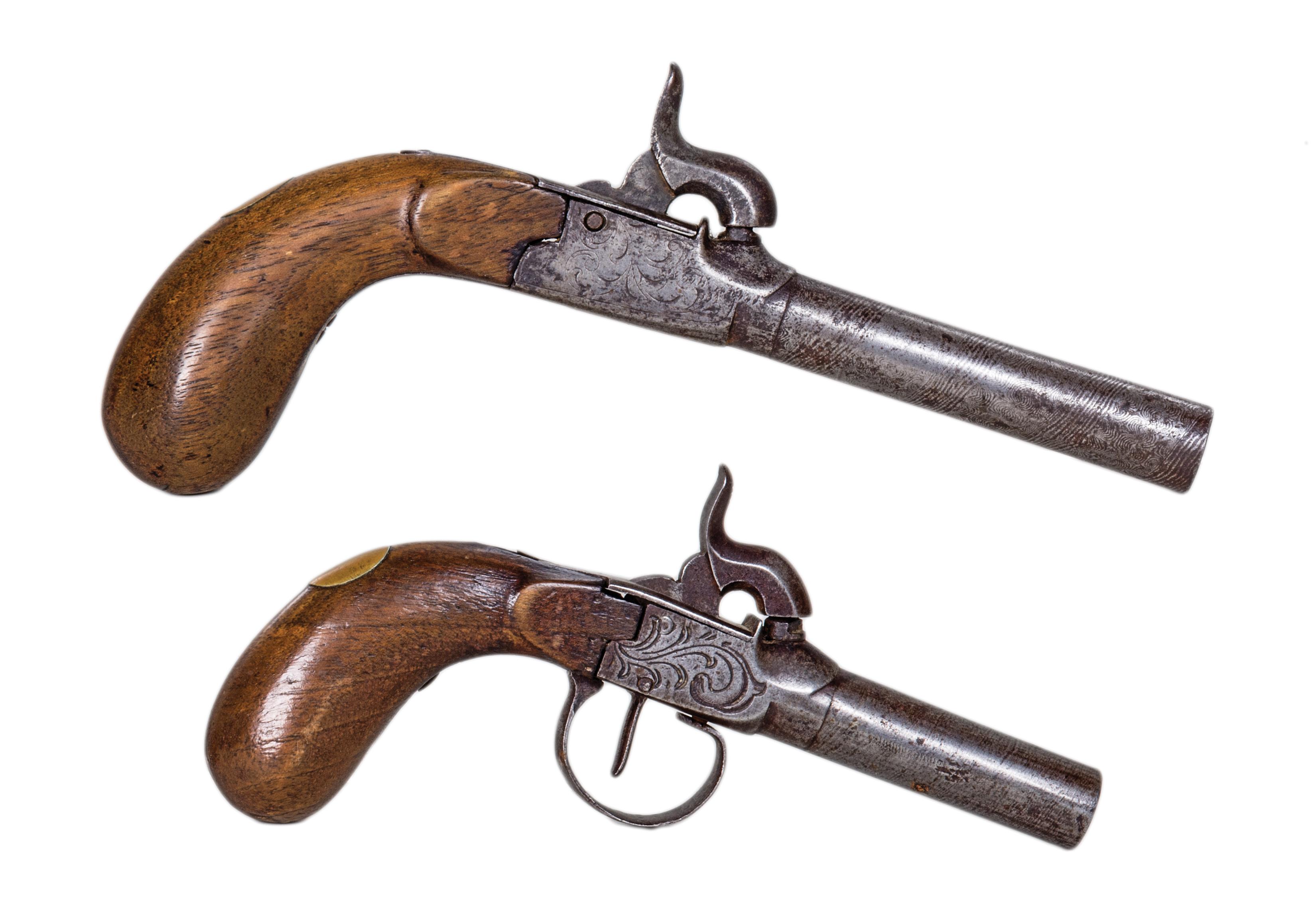 ladies, muff, pistols