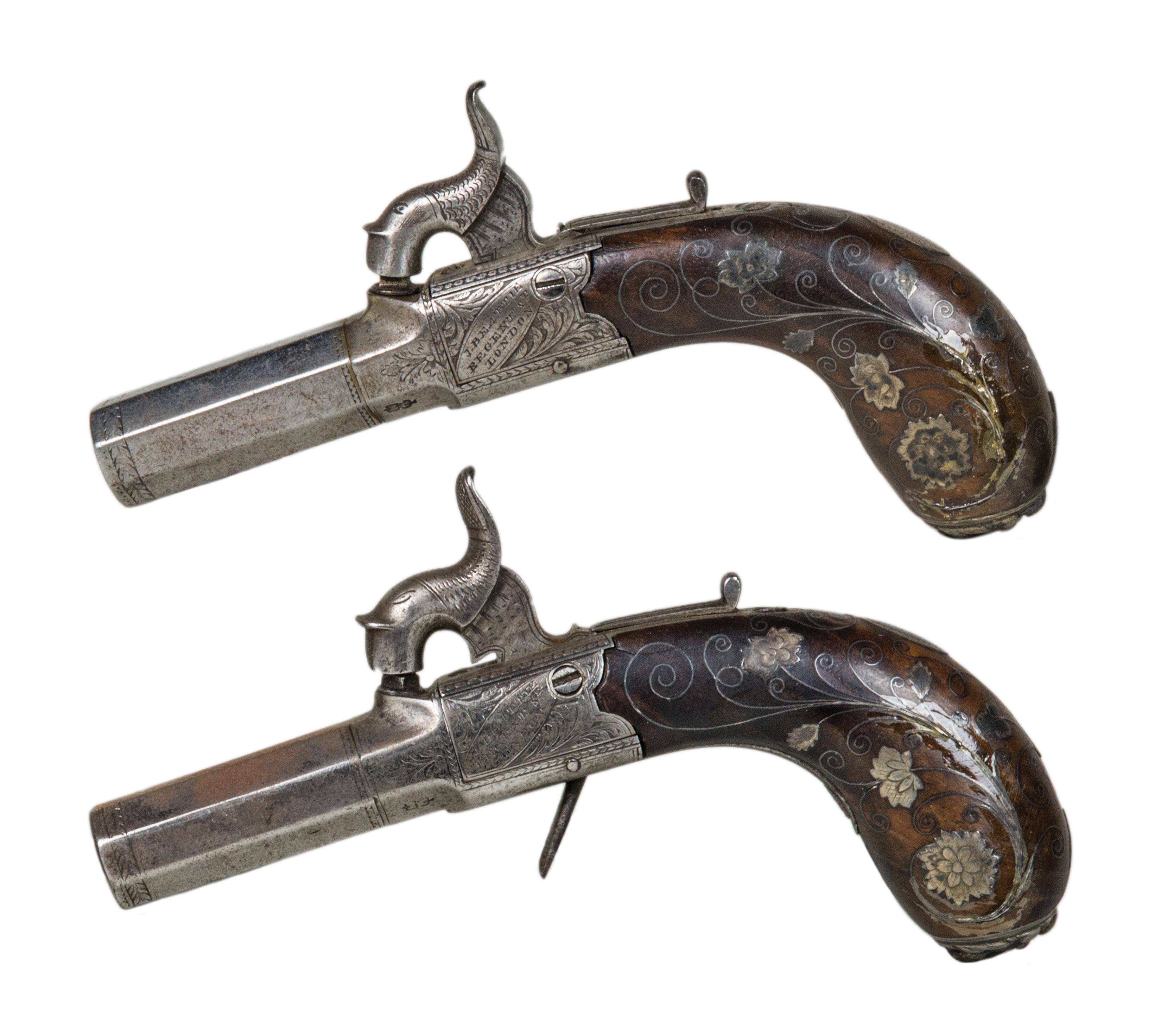 muff, pistols
