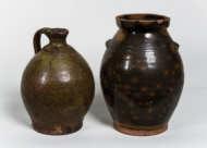 redware, jugs, ovoid, crock