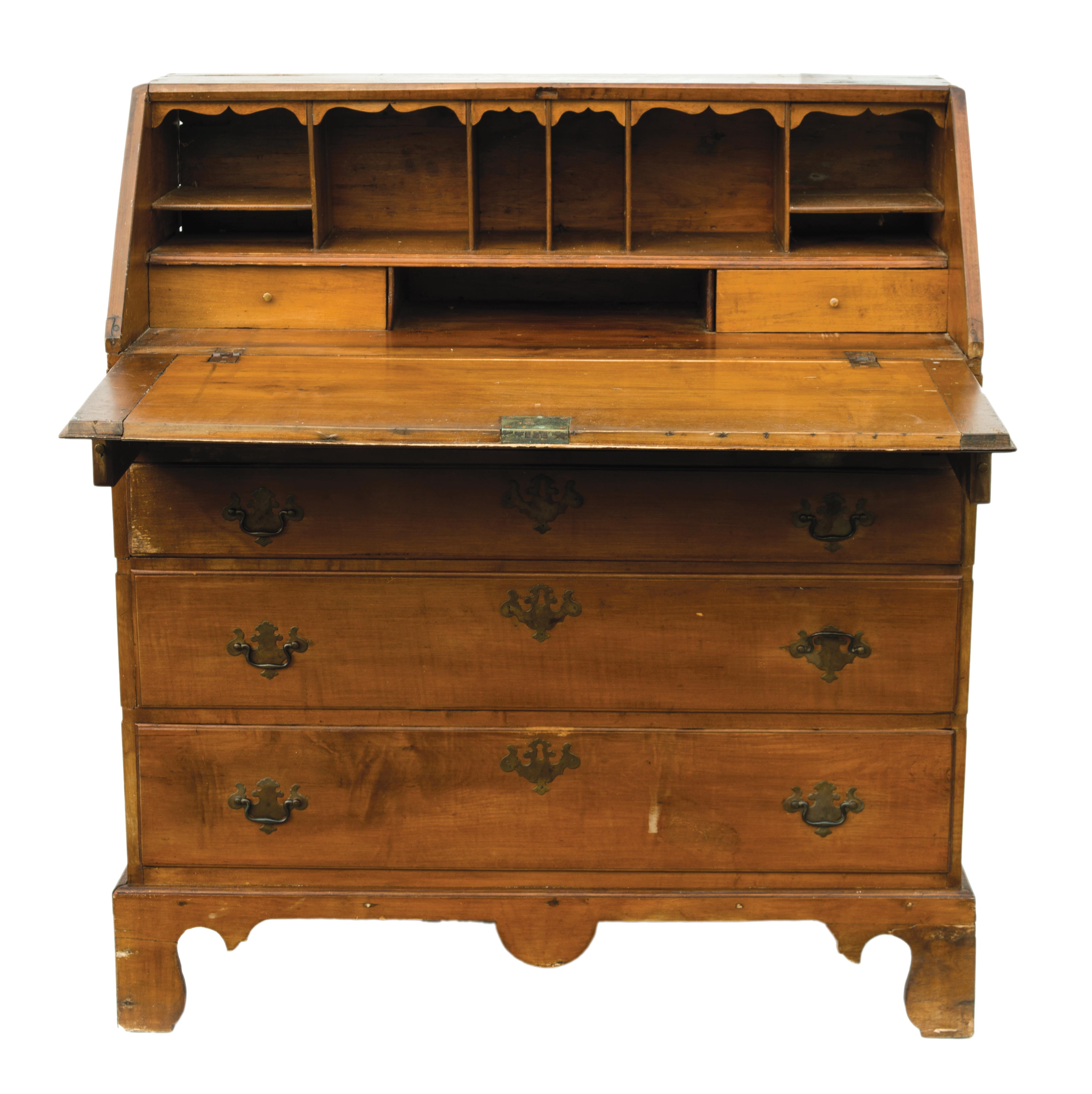 governor, winthrop, desk, maple, pine