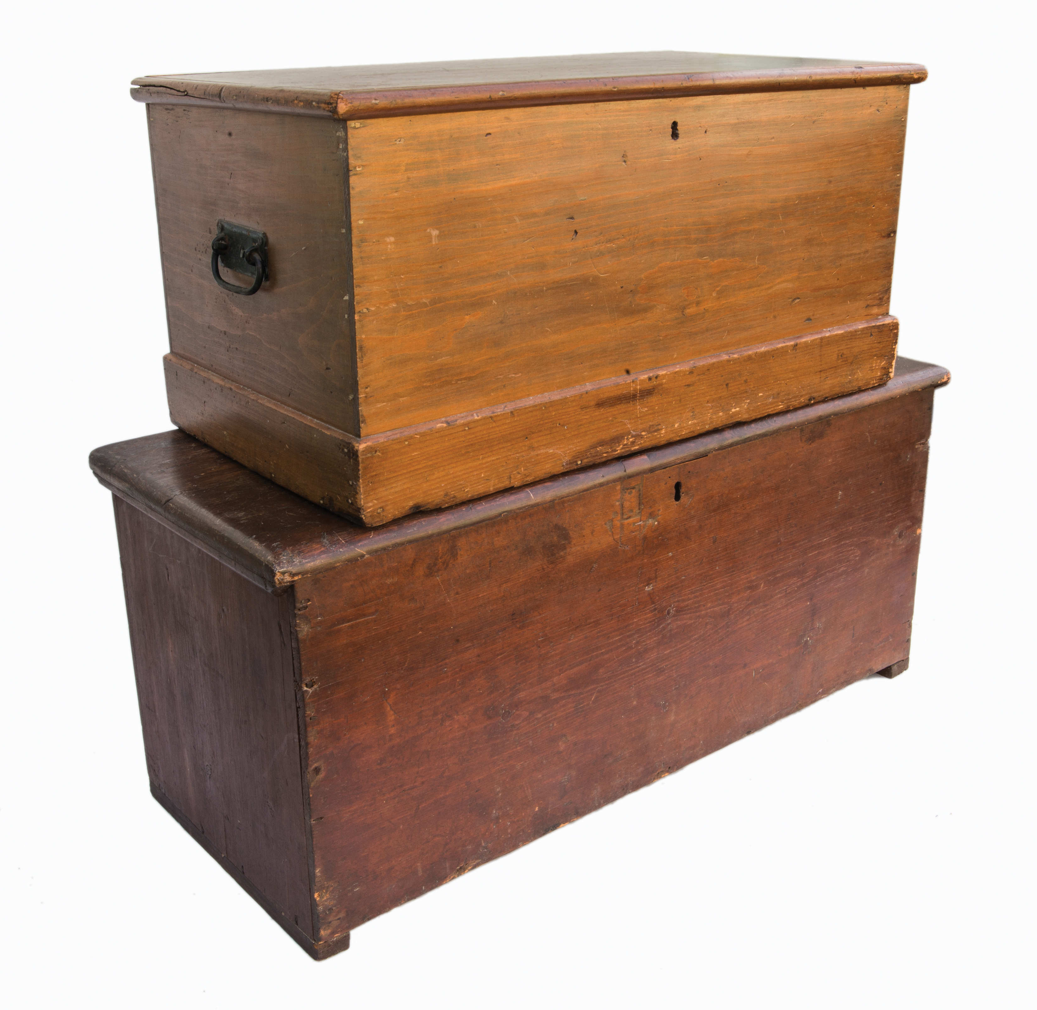 pine, storage, chests