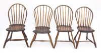 windsor, chairs, bowback, pine