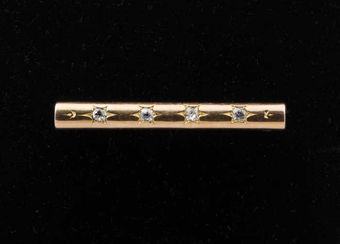 14k, gold, diamond, pin