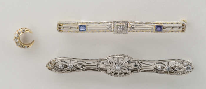 bar, pins, stick, white, gold, diamonds