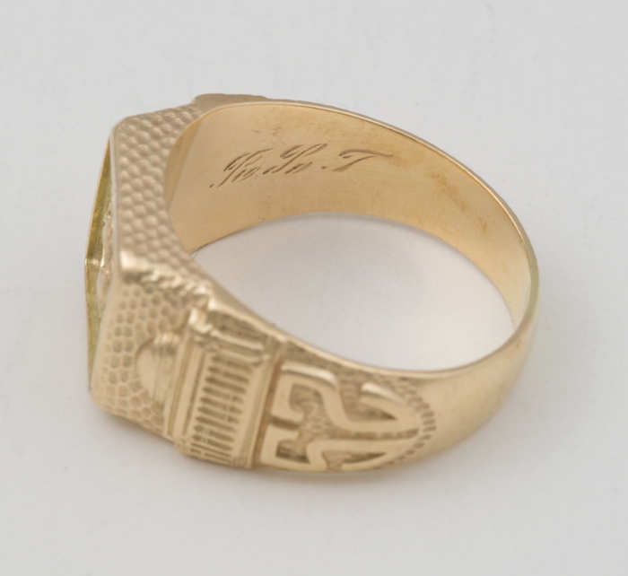 14k, gold, gentleman's, ring, MIT