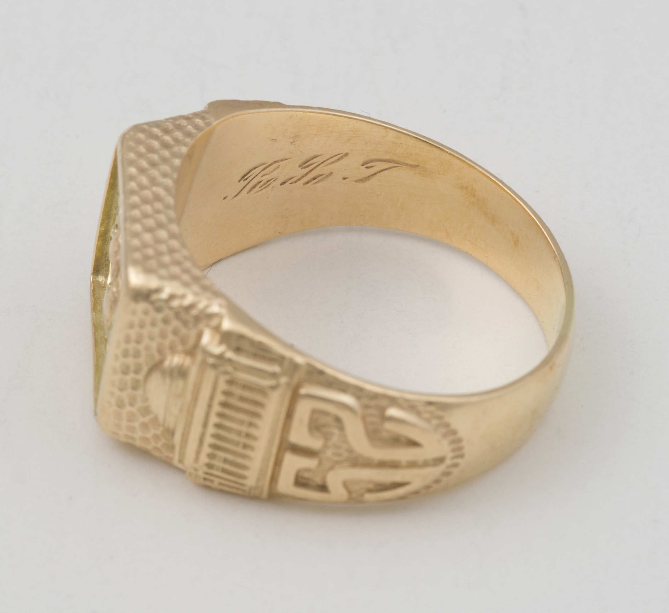 14k, gold, gentleman's, ring, MIT
