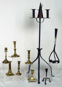 brass, iron, candlesticks, lighting