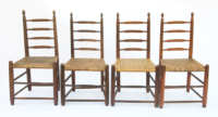 side, chairs, maple, ladderback