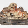asian, stoneware, dogs, soapstone, lion