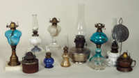glass, oil, lamps, brass