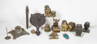 metal, owls, paperweights, match, holders