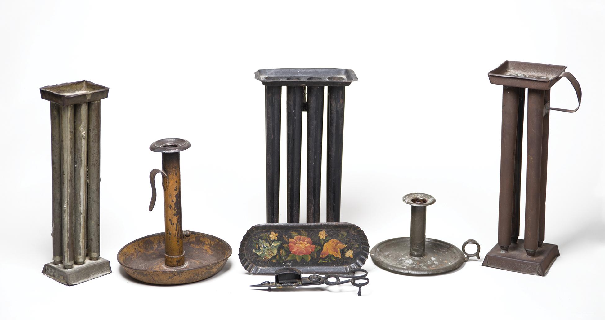 candle, molds, chambersticks