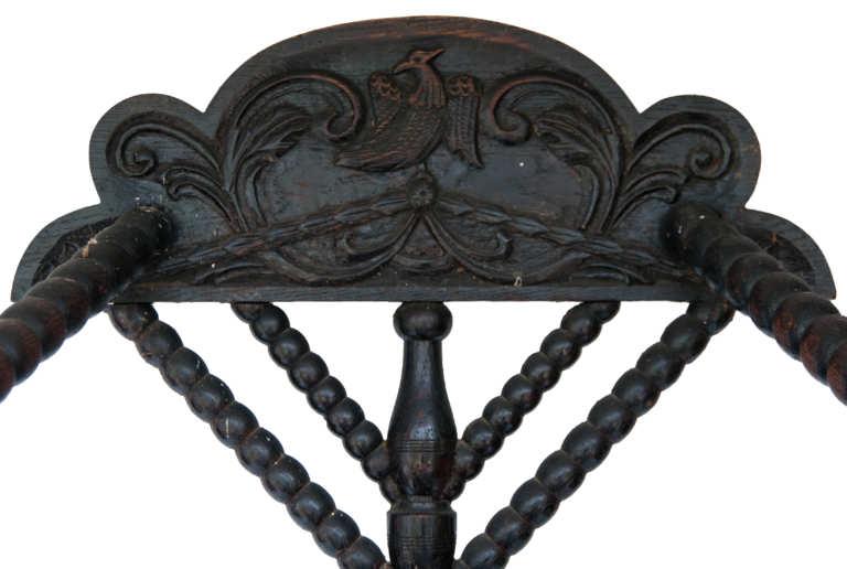 renaissance, armchair, oak